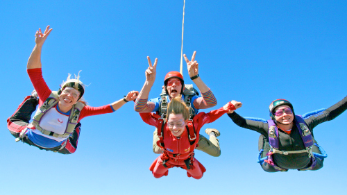 4 Tandem Skydives at 3 Locations by Skydive Ramblers Sunshine Coast