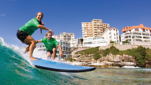 Bondi Beach Surfing Lesson by Let