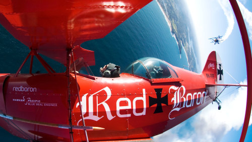 Aerobatic Biplane Flight by The Red Baron
