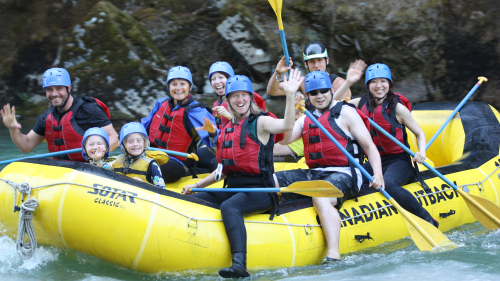 Family-Friendly Cheakamus Splash Rafting Adventure