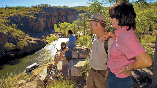 Katherine Gorge Cruise & Edith Falls Day Tour by AAT Kings