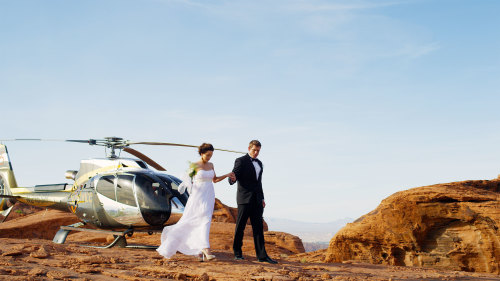 Sundance Helicopters: Valley of Fire Wedding with Limo & Champagne
