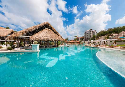sandals la source grenada main pool