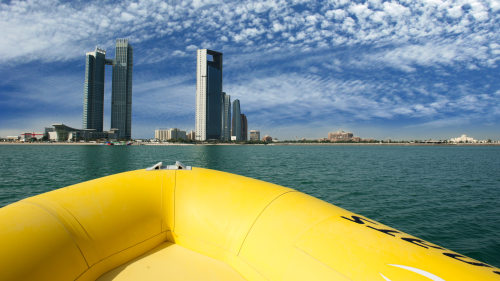 Emirates Palace, Lulu Island & Corniche Sightseeing Tour on The Yellow Boats