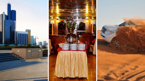 City Tour, Dhow Cruise & 4x4 Desert Safari Combo by Gray Line