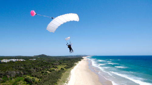 Tandem Skydive Coolum Beach by Skydive Ramblers Sunshine Coast