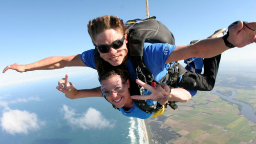 Tandem Beach Skydive by Skydive the Beach Byron Bay