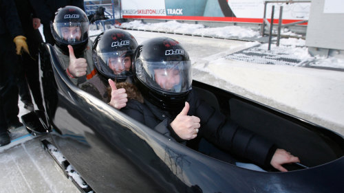 Winter Bobsled Ride with Professional Driver