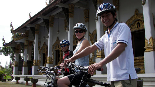 Ancient Lamphun Private Cycling Tour