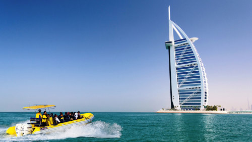 Palm Jumeirah & Burj Al Arab Sightseeing Cruise on The Yellow Boats