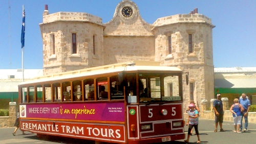 Hop-On Hop-Off Tram Ticket & Fremantle Prison Tour by City Tours