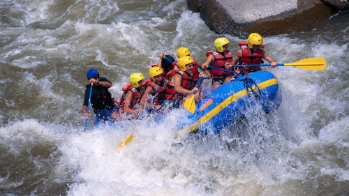 Overnight Whitewater Rafting Trip by River Valley