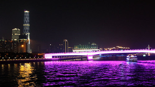 Moonlit Pearl River Cruise & Waterfront Stroll by Shanghai Han Tang Travel