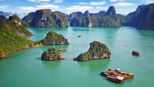 Halong Bay Full-Day Boat Cruise by Threeland Travel