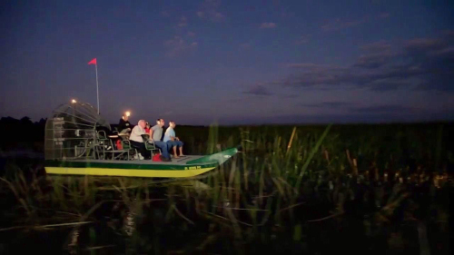 Nighttime Airboat Ride at Wild Florida