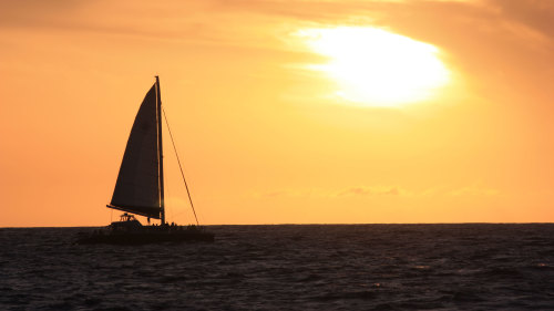Poipu Sunset Catamaran Sail with Drinks & Appetizers