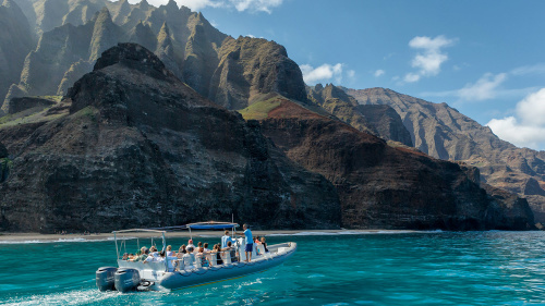 Napali Coast Raft & Snorkeling Adventure from Hanalei Bay