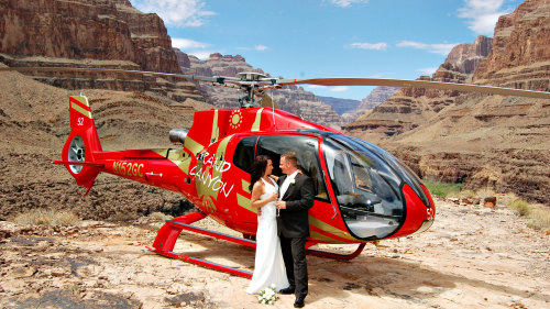 Grand Canyon Wedding & Helicopter Champagne Toast