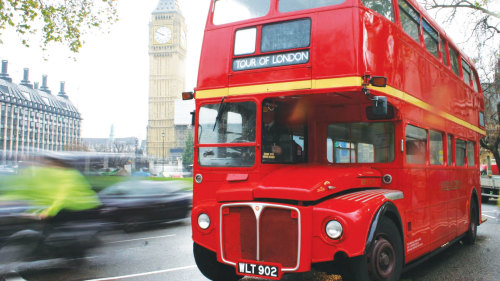 Vintage Double-Decker Bus Tour & River Thames Cruise by Premium Tours