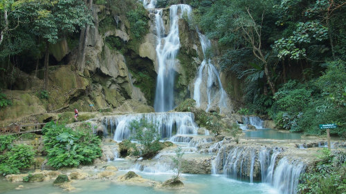 Kuang Si Waterfall & Local Villages Half-Day Tour