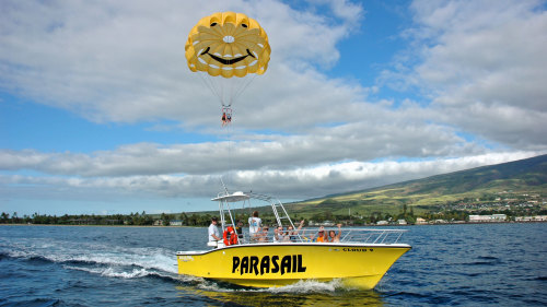 Parasailing Over the Pacific