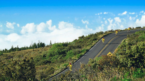 Mid-Day Bike Trek Down Haleakala Volcano