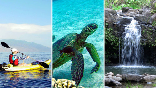 Kayak Snorkel & Waterfall Hike with Lunch