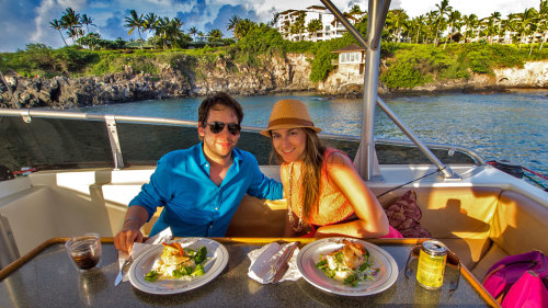 Sunset Cruise with Gourmet Food & Drink Service by Onboard Chef