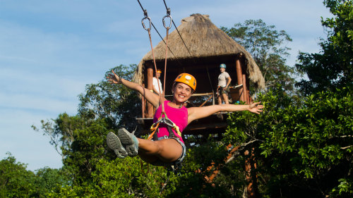 Jungle Maya Snorkeling & Ziplining Tour with Lunch