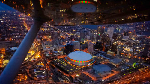 Big Easy Lights at Night Aerial Tour
