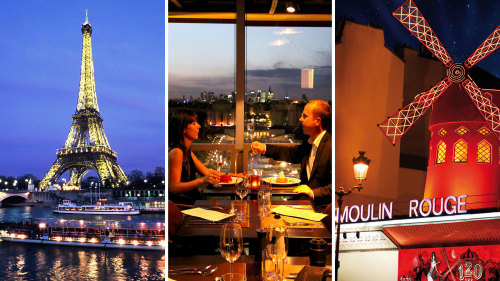 Eiffel Tower, Seine Cruise, Moulin Rouge & Dinner by Paris Cityvision
