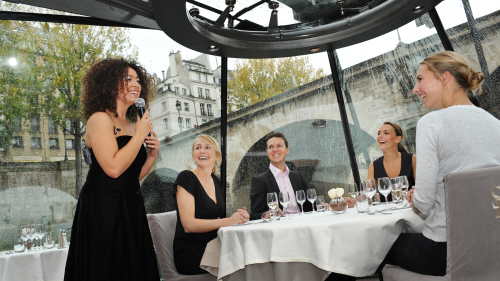 Christmas River Cruise with Festive Meal by Bateaux Parisiens
